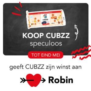Koop CUBZZ koekjes en steun Stichting Robin