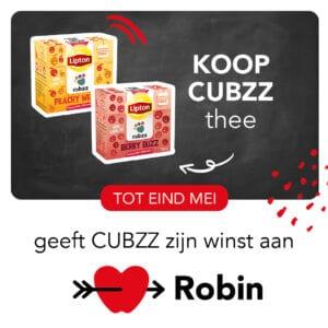 Koop CUBZZ thee en steun Stichting Robin